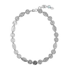 Nine West Vintage America Collection® Antique Silvertone Collar Necklace at www.herbergers.com