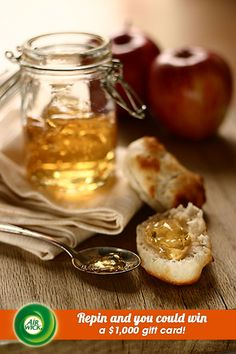 Delicious homemade #apple marmalade paired with warm freshly baked bread.  Visit link for sweepstakes information: https://www.airwick.us/repin_to_win.php