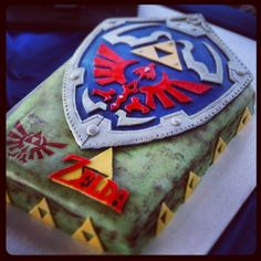 The Legend of Zelda Brirthday cake--- my birthday is in about six months, who… Zelda Birthday, Boy Birthday, Birthday Cake, The Legend Of Zelda, Zelda Cake, Anime Cake, Nintendo, Baking And Pastry, Specialty Cakes