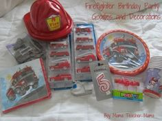 Boy Mama Teacher Mama Firefighter Bday Party