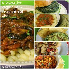 Lower fat vegetarian and vegan meals #Veganuary