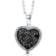 Sterling Silver Black White Cubic Zirconia CZ Heart Pendant Necklace - Nickel Free BERRICLE. $42.99. Stone Total Weight (ct.tw) : 0.89. Gender : Women. Nickel Free and Hypoallergenic. Metal : Stamped 925. Stone Type : Cubic Zirconia. Save 60%!
