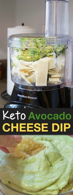 Keto Avocado Cheese Dip - The BEST keto dip! This low carb recipe is perfect for dipping pork rinds and veggies! Keto Foods, Keto Snacks, Avocado Toast, Keto Avocado, Avocado Dip, Avocado Dessert, Diet Dinner Recipes, Snack Recipes, Breakfast Recipes