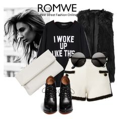 """Sweatshirt  in Romwe"" by elliegabs ❤ liked on Polyvore featuring moda, Moschino, Whistles i Givenchy"