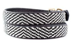 Beaded dog collars made by the Maasai tribe in Kenya