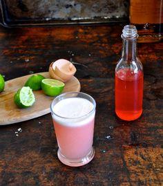 Mezcal Rhubarb Sour
