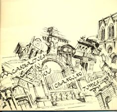 'Casualties of Changing Times' - Second solo exhibition of architectural sketches in pen and ink by Zehra Naqavi (Architect/artist) in 1997. All sketches on pastel sheet and drawn with a 0.1mm rapido.