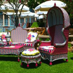 eclectic furniture syles, almost Victorian in nature