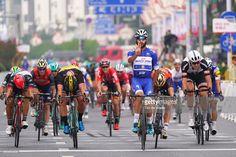 #TourofGuangxi 1st Tour of Guangxi 2017 / Stage 6 Arrival / Fernando GAVIRIA (COL) Blue Sprint Jersey Celebration / Dylan GROENEWEGEN (NED)/ Niccolo BONIFAZIO (ITA)/ Andrea GUARDINI (ITA)/ Max WALSCHEID (GER)/ Guilin - Guilin (168km)/ Gree - Tour of Guangxi / TOG /