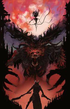 Bloodborne Poster, Bloodborne Concept Art, Bloodborne Art, Sif Dark Souls, Arte Dark Souls, Dark Fantasy Art, Fantasy Artwork, Bild Tattoos, Art Tattoos