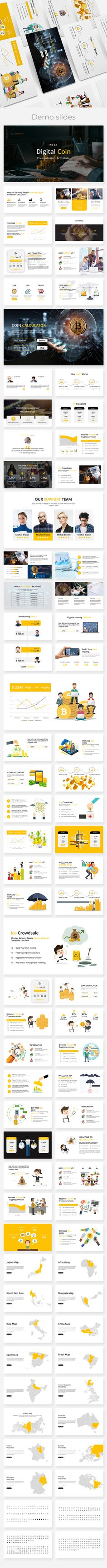 Digital Coin - Business Google Slide Template - Google Slides Presentation Templates