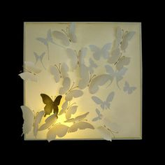 Butterfly Shadow Wall Light Gold now featured on Fab.