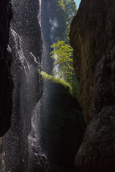 Partnach Gorge (German: Partnachklamm) is a deep gorge that has been incised by a mountain stream, the Partnach, in the Reintal valley near the south German town of Garmisch-Partenkirchen. http://www.photoshopweimann.de http://www.photoklau.de/