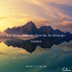 Let them come, let them be, let them go. —Culadasa