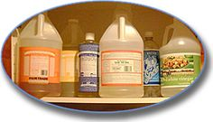 Lisa Bronner's cabinet - this has a bunch of links and recipes for cleaning.  green cleaning