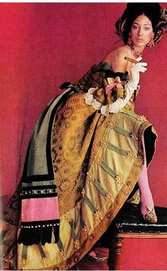Marisa Berenson by Cecil Beaton in Vogue 1966