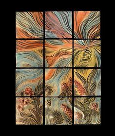 Rich glazes enhance this tile mural... perfect as wall art.