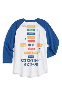 Peek 'Scientific Method' Raglan Sleeve T-Shirt (Toddler Boys, Little Boys & Big Boys) | Nordstrom