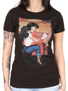 "Women's ""Tattoo Parlor"" Tee by Gabi Spree for Black Market Art at the Inked Shop."