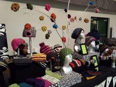 My craft show display. I love my centerpiece!- nikki gee    studiostitchandco.etsy.com