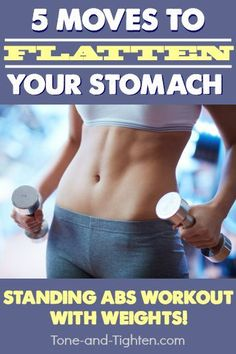 standing abs workout at home. tone-and-tighten.com