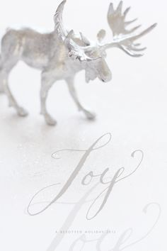 Hand-lettered 'joy' by Tristan B. I used Sumi ink and I need to look up the nib, it was very flexible and small.