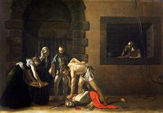 The Beheading of Saint John Caravaggio 1608 Baroque Painting, Baroque Art, Italian Painters, Italian Artist, Rembrandt, Art Du Temps, Michelangelo Caravaggio, St Jean Baptiste, Johannes Vermeer