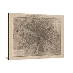 Vintage Paris Map Our Paris Map Print Is Reproduced From An - Restoration hardware paris map
