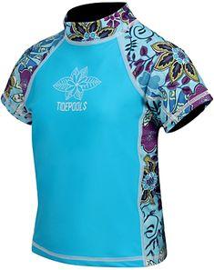 efae5798 Tidepools Girls' Topsy Turvy S/S Rash Guard (2-14yrs) at SwimOutlet.com