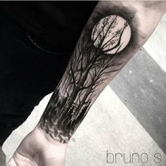 Forest Sleeve Tattoo For Men. www. http://forcreativejuice.com/cool-sleeve-tattoo-designs/