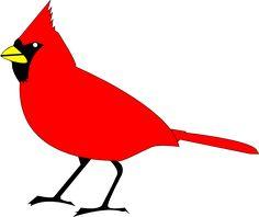 cardinal silhouette clip art printables graphics pinterest rh pinterest com cardinal bird clipart free cardinal clipart images
