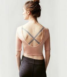 Free People + Onzie Ballerina Crop Top in Blush