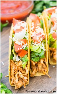Shredded chicken tacos recipe i used corn tortillas like street shredded chicken tacos chicken taco recipesmexican food forumfinder Choice Image