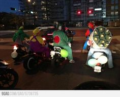 This is awesome....real life Mario kart!