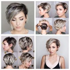 38 Short Layered Bob Haircuts with Side Swept Bangs That Make You Look Younger -. 38 Short Layered Bob Haircuts with Side Swept Bangs That Short Hair With Layers, Short Hair Cuts, Short Sassy Hair, Short Layered Bob Haircuts, Short Bob With Undercut, Asymmetrical Bob Short, Wavy Angled Bob, Undercut Bob, Pixie Cut Wig