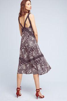 Slide View: 4: Patchwork Midi Dress