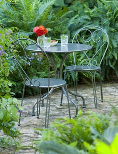A bistro set like this would look great on the screened in porch!