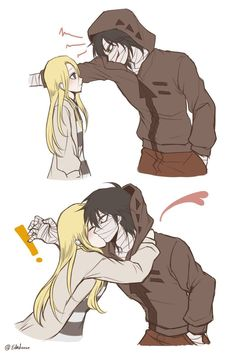 La foto - Angels of Death - Anime Anime Couples Drawings, Anime Couples Manga, Cute Anime Couples, Anime Guys, Manga Anime, Couple Manga, Anime Love Couple, I Love Anime, Anime Angel