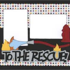 Firefighter Scrapbook page 2