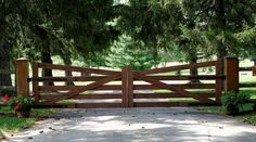 Image result for gravel driveway gate with drop rod