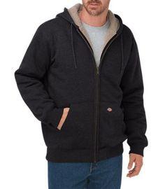 Dickies® Men's Sherpa-Lined Fleece Hooded Jacket - Big & Tall-JCPenney Mens Sherpa, Fleece Hoodie, Crew Neck Sweatshirt, Sweat Shirt, Parka, Sherpa Lined, Big & Tall, Black Hoodie, Hoodie Sweatshirts