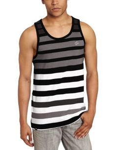 Amazon.com: Southpole Men's Tank Top With Engineered Stripes: Clothing $11.00