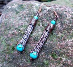 Discover recipes, home ideas, style inspiration and other ideas to try. Copper Earrings, Beaded Earrings, Drop Earrings, Wire Jewelry, Jewelry Crafts, Wire Bracelets, Wire Crafts, Pendant Jewelry, Jewelry Ideas