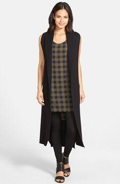 Women's Eileen Fisher Boiled Wool Kimono Vest