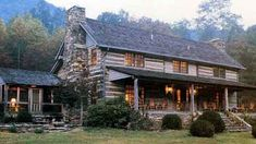 This is my ultimate dream home a Log Farmhouse... <3
