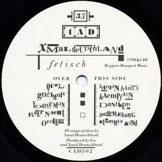 Xmal Deutschland - Fetisch (B side label)