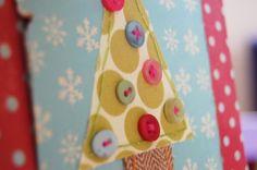 handmade holiday card vickycard close