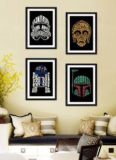 Affiche Poster A4 / A3 - Star Wars (code promo sur la page boutique) de la boutique LiliePixels sur Etsy