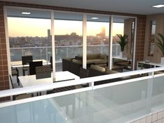 Varanda - Apartamento Residencial Condomínio Ed. Arvoredo