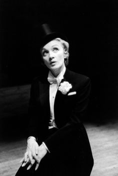 Marlene Dietrich. I was so fortunate to see Ms. Dietrich perform and sing on stage in Los Angeles Ca. in the 70's. such a perfectionist. Wonderful.